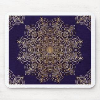 Gold mandala mouse pad