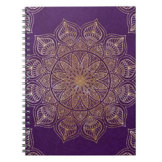Gold mandala notebook