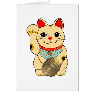 Gold Maneki Neko Card