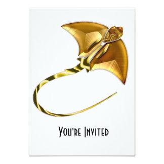 Gold Manta Sting Ray Card