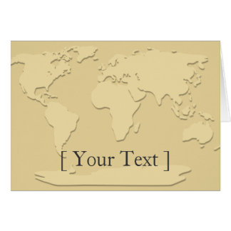 Gold Map World Greeting Card