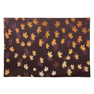 Gold Maple Leaf on dark red Placemat