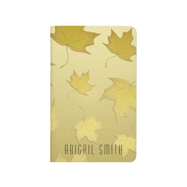 Gold Maple Leaf Personalized Pocket journal