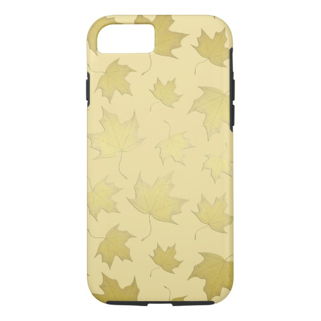 GOLD MAPLE LEAVES - Phone case