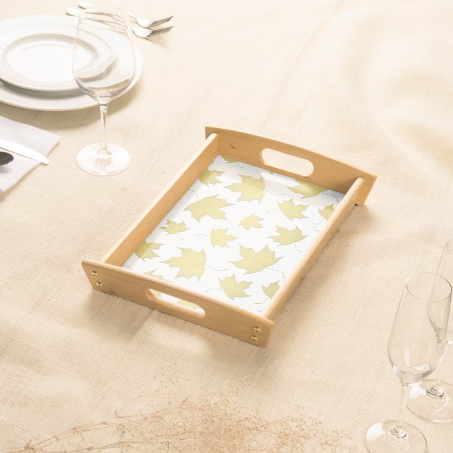 GOLD MAPLE LEAVES - Serving Tray