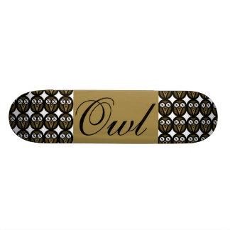 Gold Maple Owl Custom Skate Board