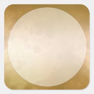 Gold Marble Label Sticker Small Square