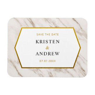 Gold Marble | Save The Date Magnet