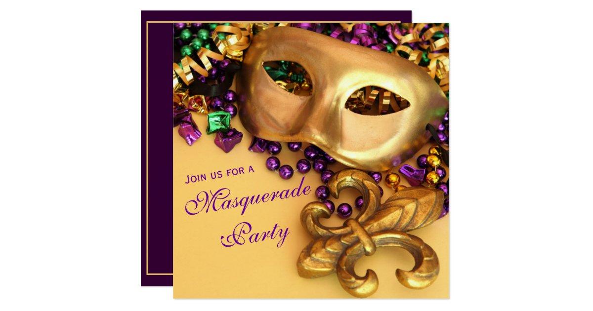 Mardi Gras Invitations 2700 Mardi Gras Announcements Invites – Mardi Gras Party Invites