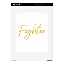 GOLD MARKER FIGHTER SCRIPT MOTIVATION GEAR iPad DECAL