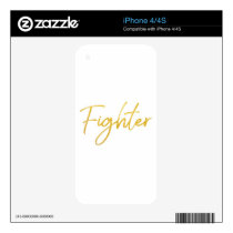 GOLD MARKER FIGHTER SCRIPT MOTIVATION GEAR iPhone 4S DECAL