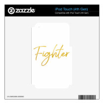 GOLD MARKER FIGHTER SCRIPT MOTIVATION GEAR iPod TOUCH 4G DECAL
