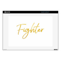 GOLD MARKER FIGHTER SCRIPT MOTIVATION GEAR SKIN FOR LAPTOP