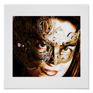 Gold Mask 12x12 Print