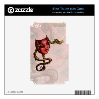 Gold Mask 3 iPod Touch 4G Decals