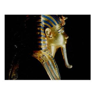 Gold mask of Tutankhamun Postcard