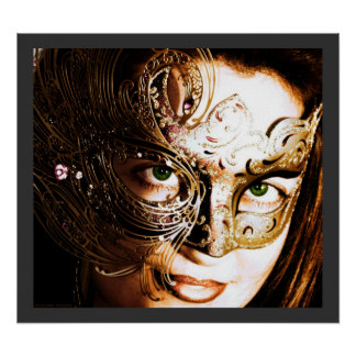 Gold Mask Poster