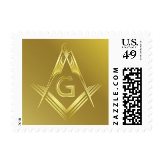 Gold Masonic Square & Compass Stamps | Freemasonry