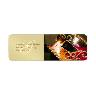 Gold Masquerade Halloween Address Labels