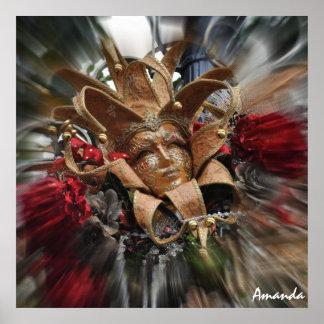Gold Masquerade Poster
