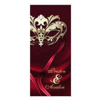 Gold Masquerade REd Jeweled Wedding Program