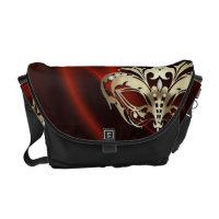 Gold Masquerade Red Messenger Bag
