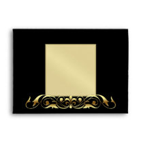 Gold Masquerade Venetian Halloween Envelope
