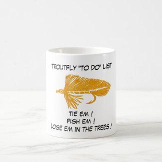 """Gold Matuka - Trout Fly ""To Do List"" Mug"