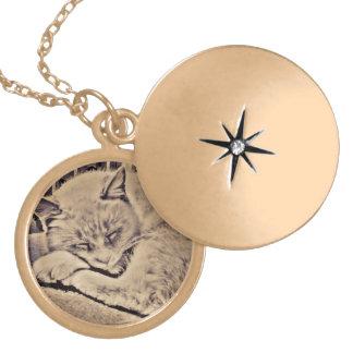 Gold Maui Cat Necklace