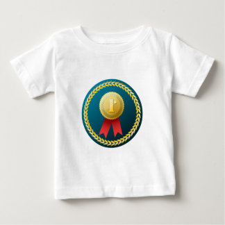 Gold Medal - No.1 first win winner prize honor Baby T-Shirt