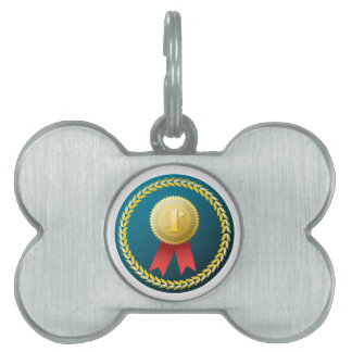 Gold Medal - No.1 first win winner prize honor Pet Tag