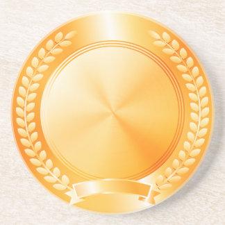 Gold Medal of Honor Sandstone Coaster