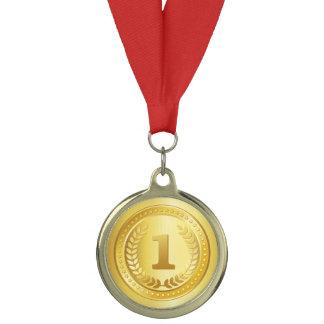 Gold medal on ribbon