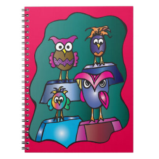 Gold Medal Owls Notebook