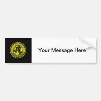 Gold Medal Soccer Monogram Letter A Bumper Sticker