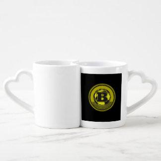 Gold Medal Soccer Monogram Letter B Couples Coffee Mug