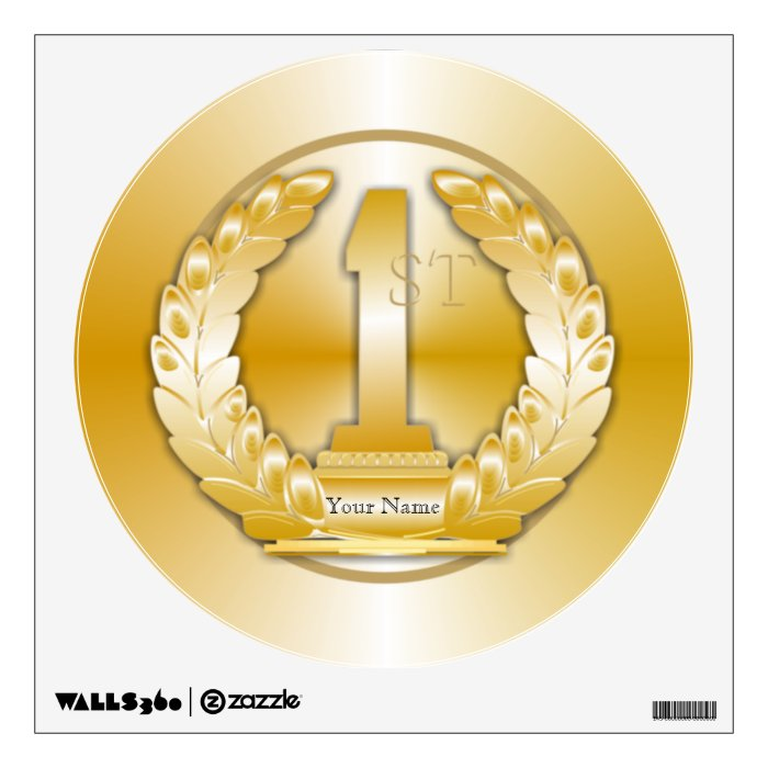 Gold Medal Wall Sticker