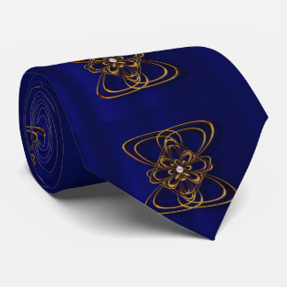 Gold medallion shiny Tie