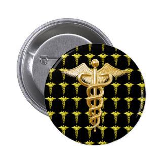 Gold Medical Caduceus Pins