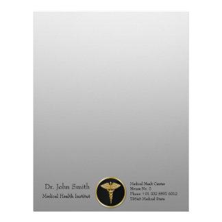 Gold Medical Caduceus - Letterhead