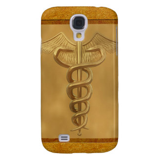 Gold Medical Caduceus Samsung Galaxy S4 Cover