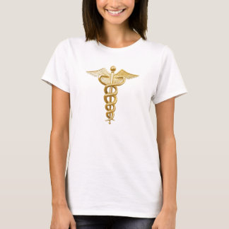 Gold Medical Caduceus T-Shirt
