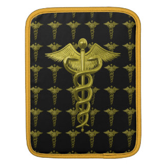Gold Medical Profession Symbol Sleeve For iPads