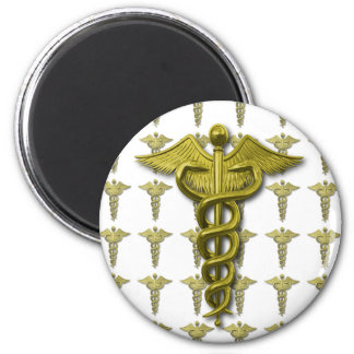 Gold Medical Profession Symbol Fridge Magnet