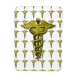 Gold Medical Profession Symbol Rectangle Magnets