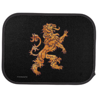Gold Medieval Lion Car Floor Mat