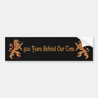 Gold Medieval Lion on Black Bumper Sticker