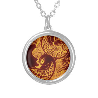gold mehndi necklaces