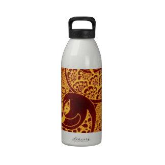 gold mehndi reusable water bottle