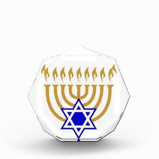Gold Menorah Blue Star of David Award